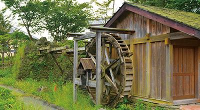 郷土文化継承をしていくための展示水車