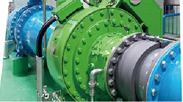 灌漑用水ダム設置インライン水車