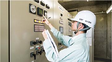 電気系統設備の点検